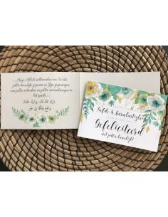 Felicitatie huwelijk minty flourish