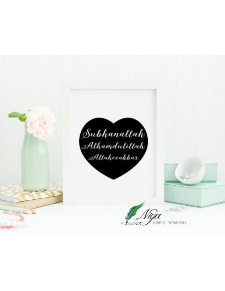 Dhikr Allah hart - Fotolijst