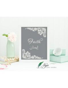 Faith 'Iman' grijs/zwart - Fotolijst