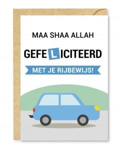 gefeliciteerd met je rijbewijs