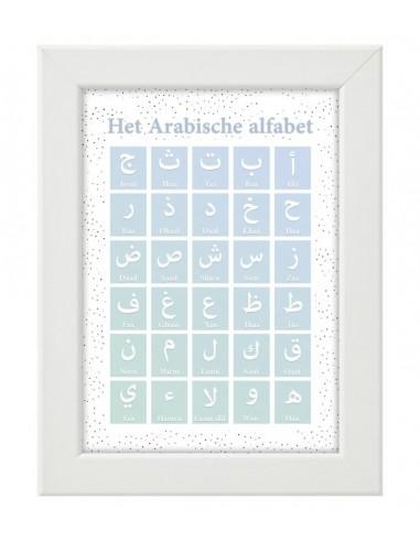Het Arabische alfabet (blauw)