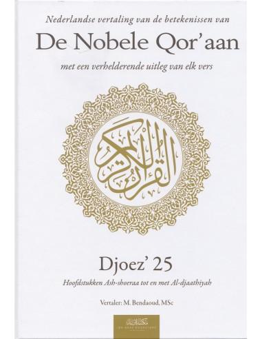 Nederlandse vertaling van de betekenissen van de Nobele Qor'aan Djoez' 25