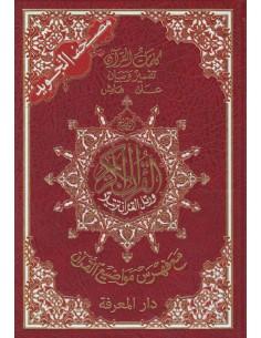 Tajweed Koran midden(4 kleuren)