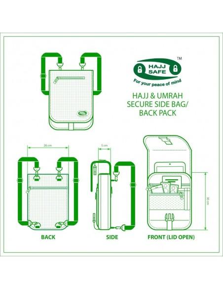 Veilige Hadj & Umrah zij- en achterverpakking