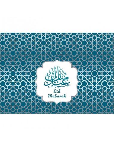Placemats Eid Zilver/Blauw (set van 6)