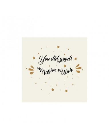 Wenskaart Felicitatie - You did Good
