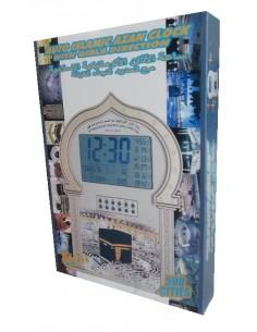 Islamitische Azan Klok met Qibla bepaling Zilver 500 steden