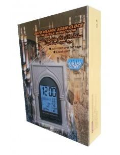 Islamitische Azan Klok met Qibla bepaling 2000 steden
