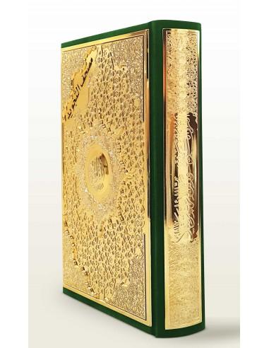 Tajweed Koran -Goud/groen middel maat