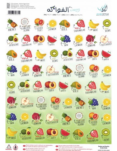 Beloningsticker - fruit