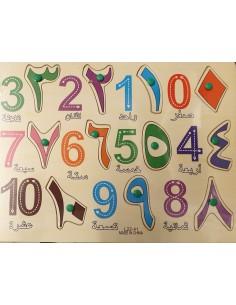 Arabische cijfers blokspel...