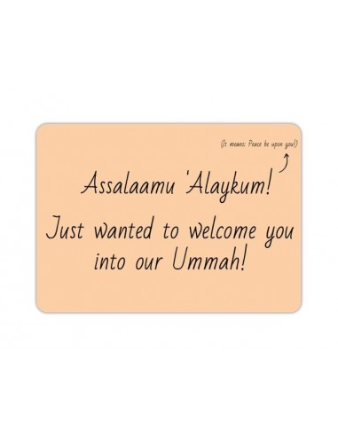 Welcome into Our Ummah